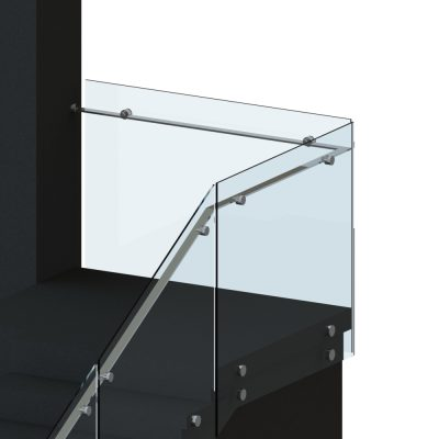 Floating Handrail with Side Fixed Glass