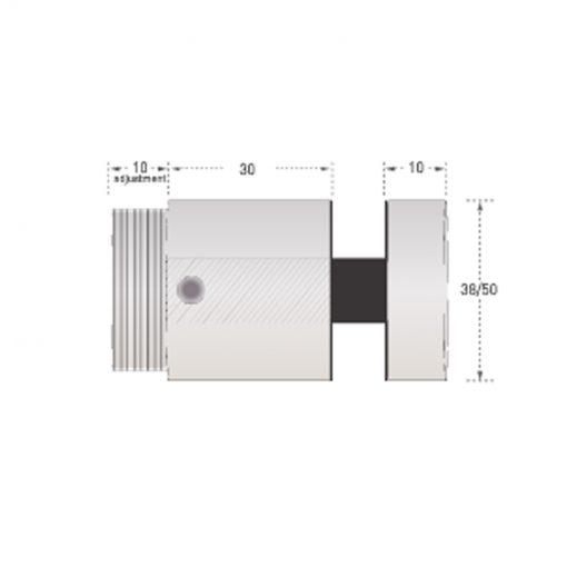 30mm diameter stainless steel adjustable standoff pin