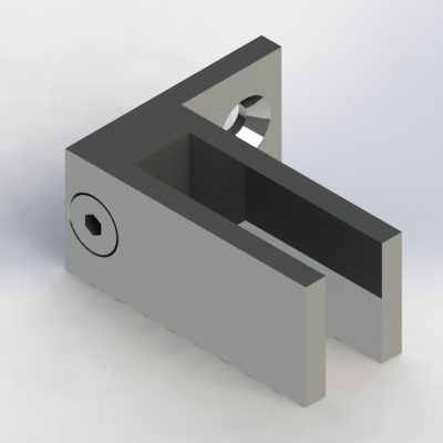glass to wall clamp for small gaps